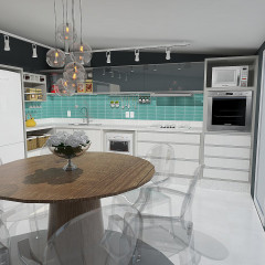 Interiores: projeto Cozinha Angra, RJ